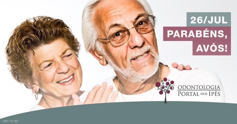 Dia dos avós   Cuidados com os dentes dos idosos - Odontologia Portal dos Ipês